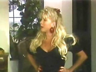 The Prettiest Little Yankee Blonde In Black Stockings Fucked