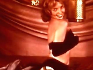 Cutie Cavort - Antique Chick Striptease Gloves Stockings