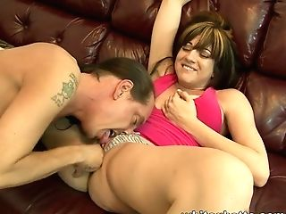 Horny Dark Haired Is Finger-tickled Hard And Does A Nice Suck Off