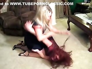 Old-school Catfights In Skirts And Dresses
