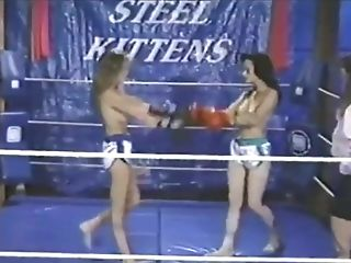 Retro Bare-breasted Boxing