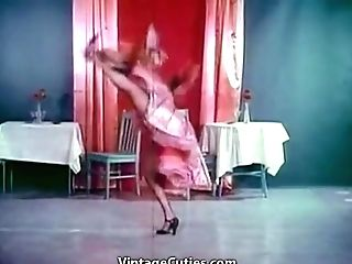 Hot Sexy Honies In Talent Display (1950s Antique)
