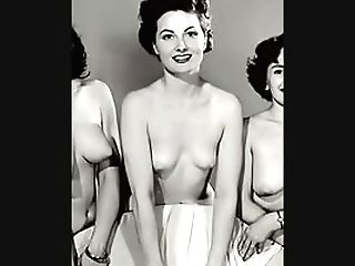 Antique Retro Nude Underwear Music Slideshow